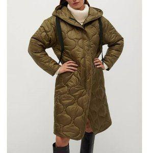 Mango Women's Oversize Quilted Coat